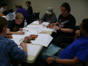 Creating a comic book page