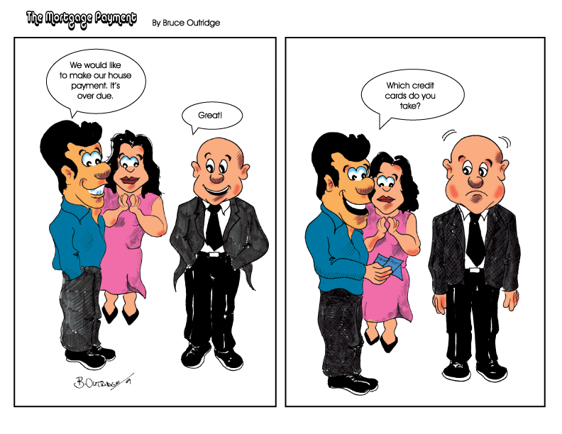 The Mortgage Payment Cartoon