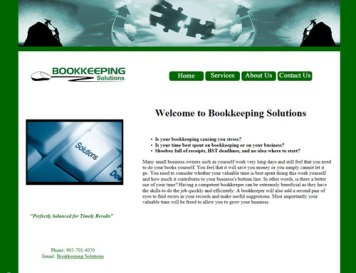 Bookkeeping Client Website