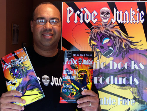 Bruce with his comic series