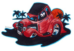 Hotrod cartoon