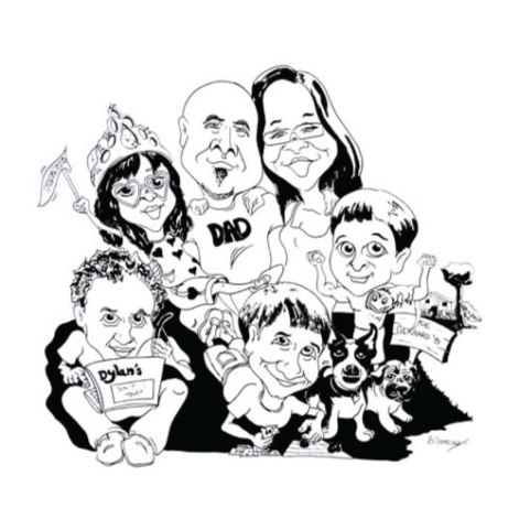 Family Theme Caricature