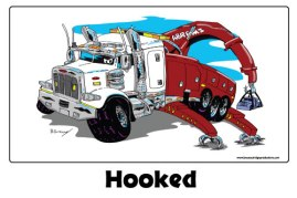 Hooked-Truck-Caricature
