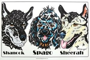 Triple-dog-caricature