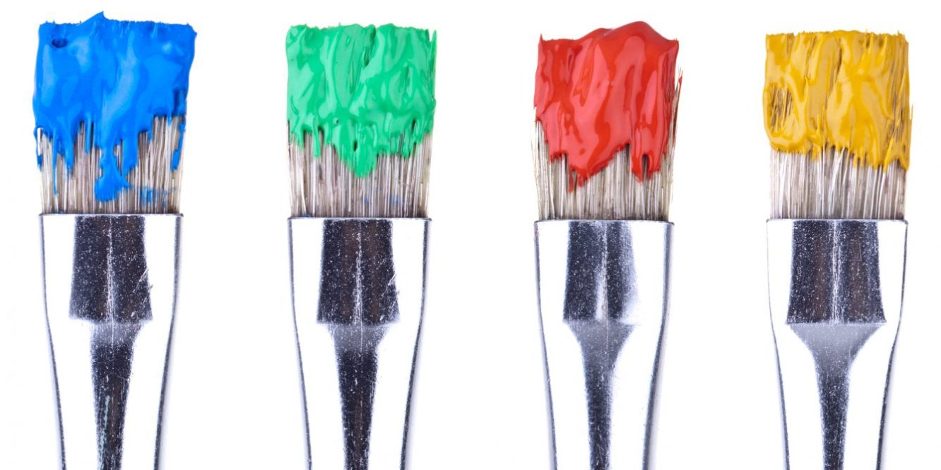 4 Paint Brushes, completey
