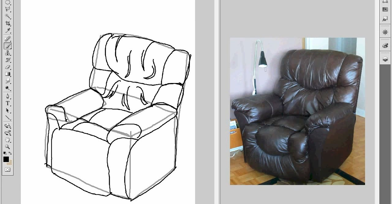 Drawing-a-Chair-Part-1