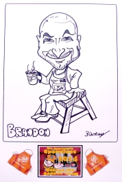 Brandon's caricature