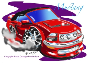 Mustang Caricature