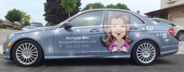 Car wrap with caricature
