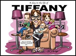Tiffany caricature