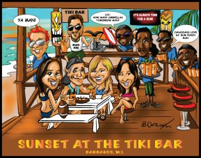 Sunset at the Tiki Bar 2016