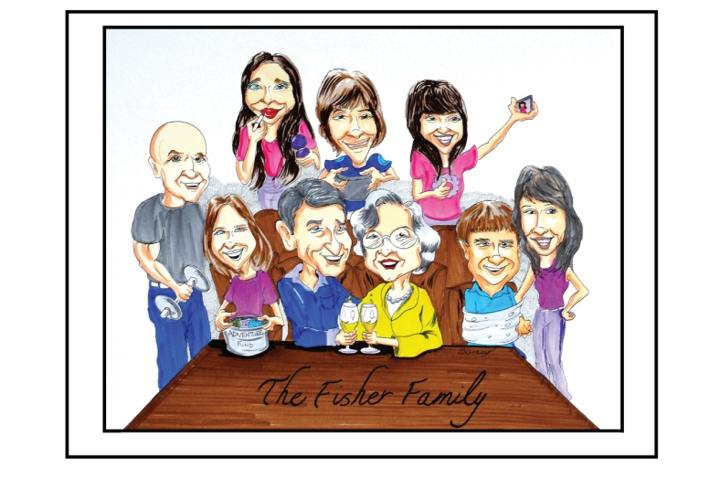 Fisher Family Caricature
