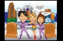 Superhero Group Caricature