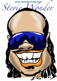 Stevie Wonder Caricature