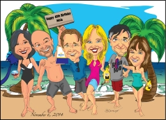 Travel Group Caricature