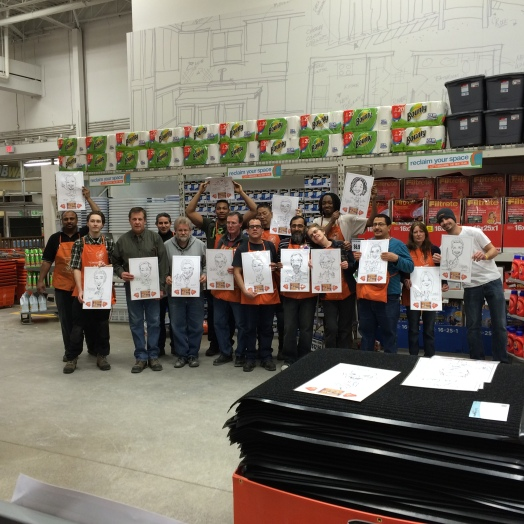 Caricatures at the Home Depot 2015