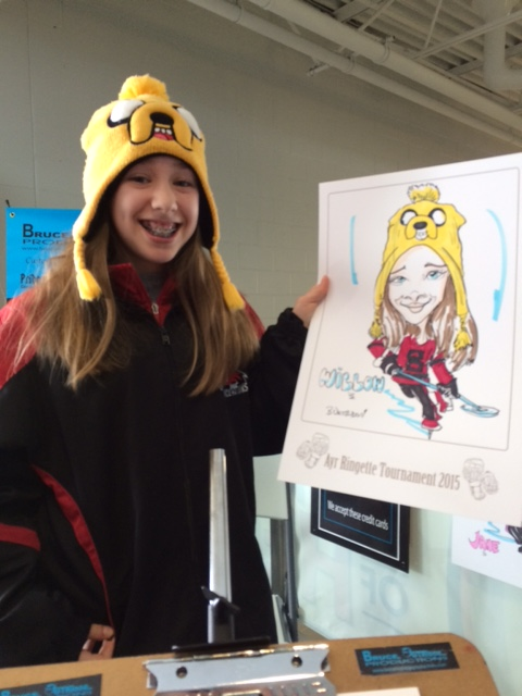 Ayr Ringette Tournament caricatures