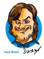 Jack Black Ipad Caricature