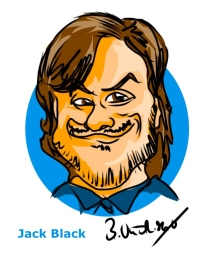 Jack Black Ipad Caricature