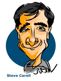 Steve Carell iPad Caricature