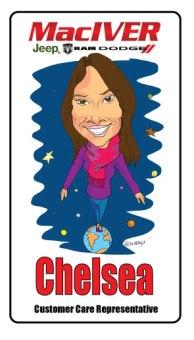 Chelsea-MacIver Dodge caricature