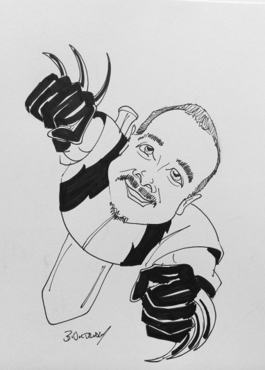 Keith as Wolverine Caricature