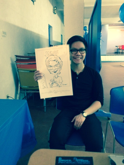 Guest with caricature