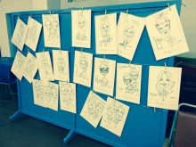 Caricature wall