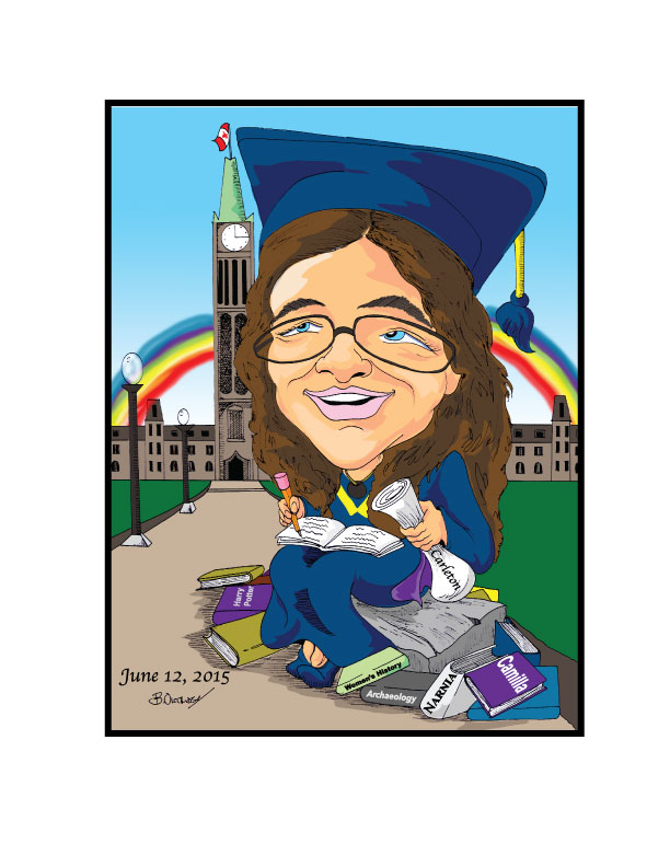 Gift caricature-graduation