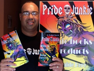 Bruce with his comics