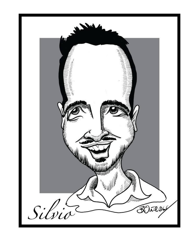Gift caricature black and white