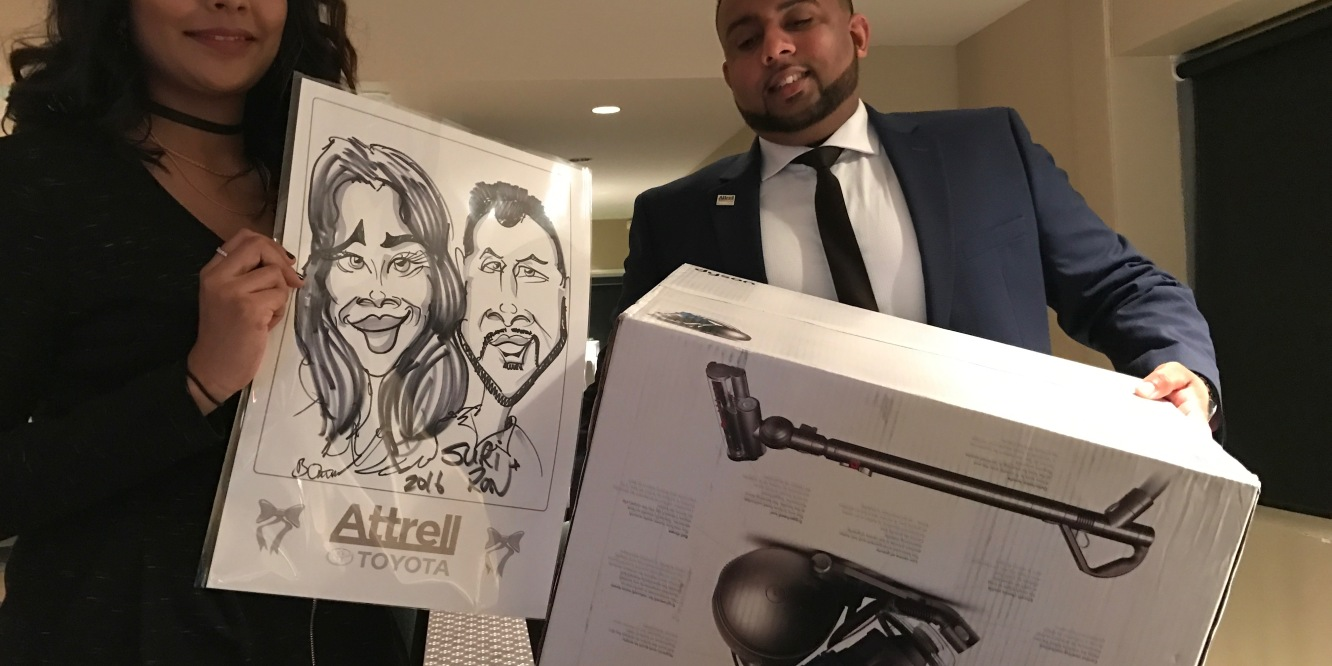 Caricatures at corporate events