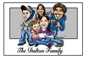Family caricature for Christmas