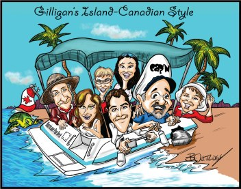 Giligan's Island Caricature