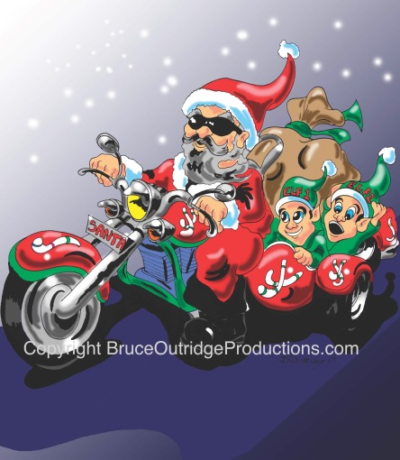Christmas illustration by Bruce Outridge Productions