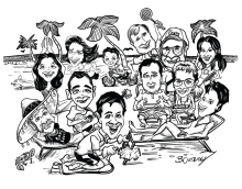 Family Gift caricature