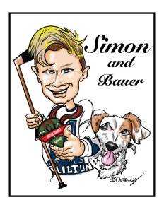Gift caricature for Christmas