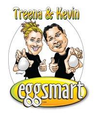 Eggsmart caricatures