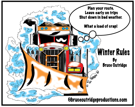 winter rules cartoon by Bruce Outridge