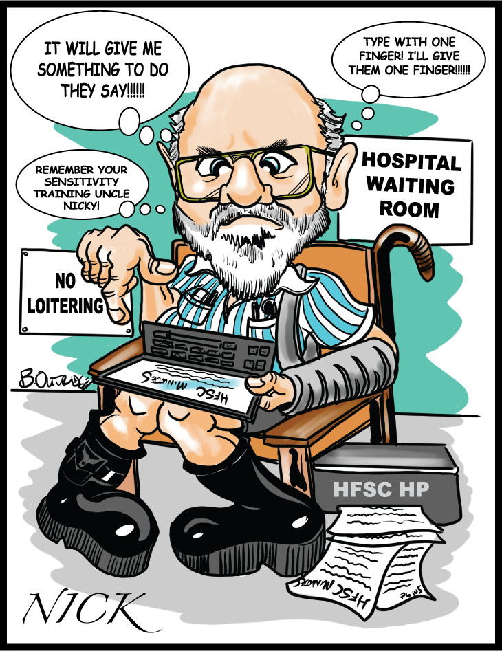Gift caricature-Hospital patient