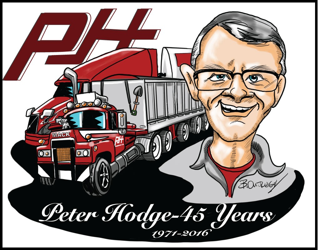 Caricature of truck owner