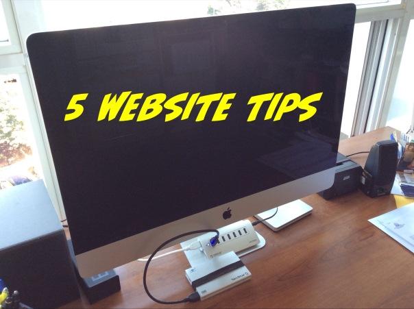 5 website tips