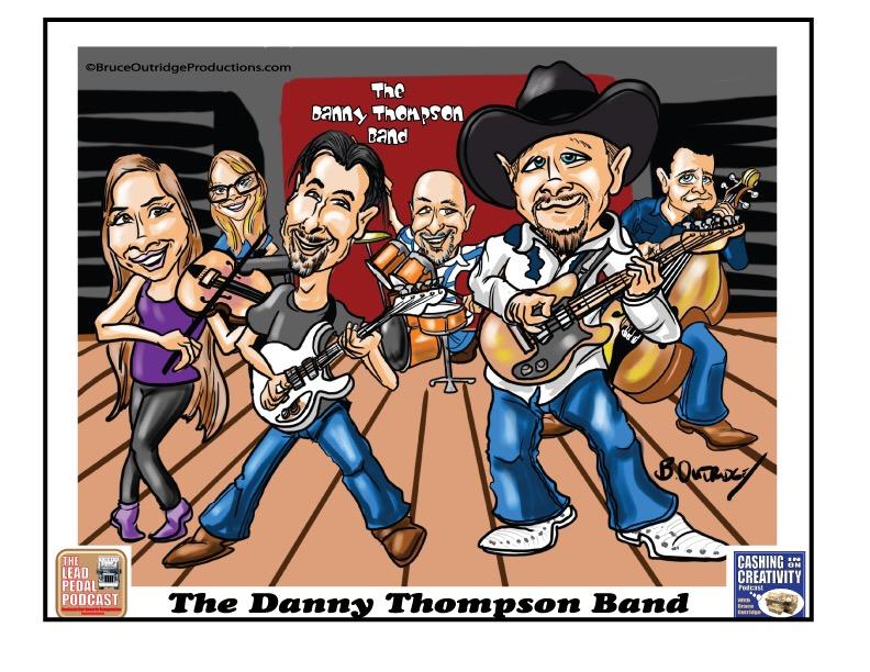 Danny Thompson Band caricature