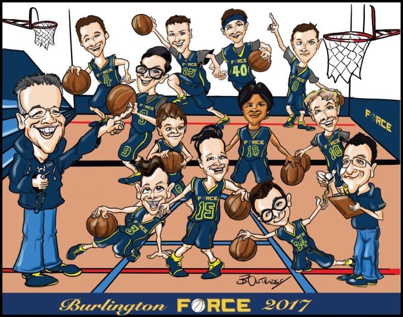 Burlington Force Gift Caricature