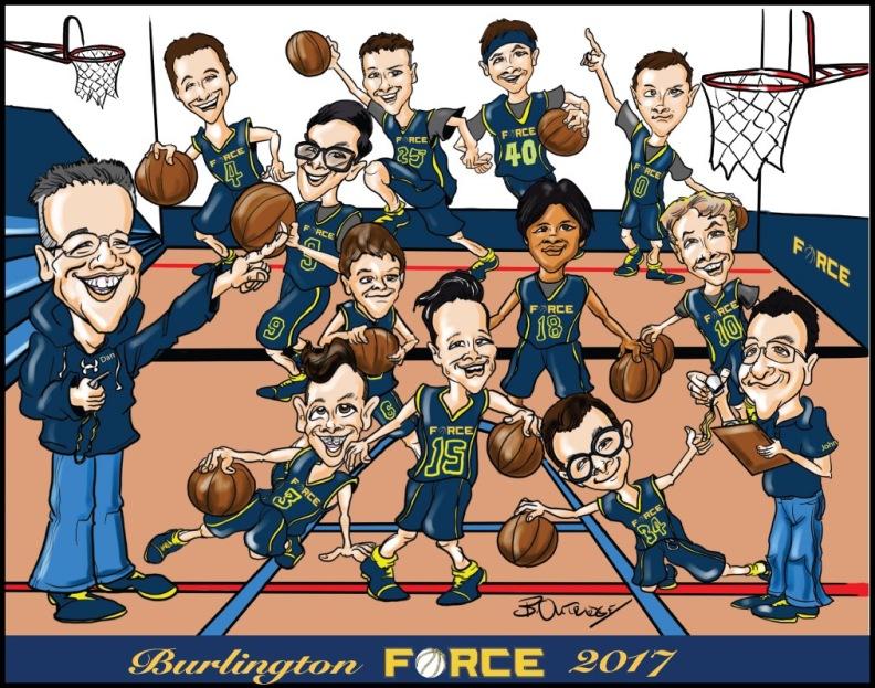 Burlington Force Group Caricature