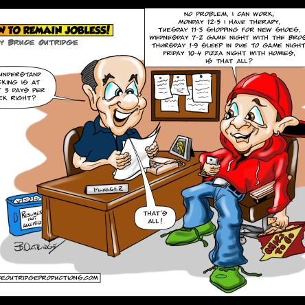 How to remain jobless cartoon