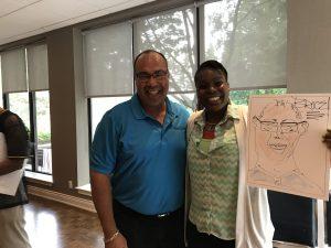 Denise draws Bruce