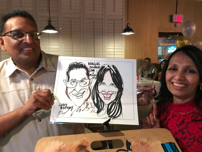 caricatures of birthday event