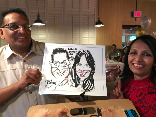 caricatures of birthday event