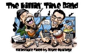 Killin-Time-Band-caricature-Video-cover
